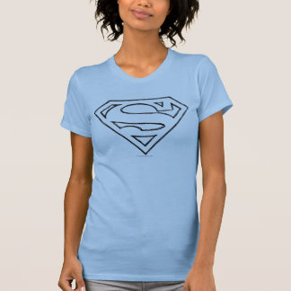 Stålmannen S-Skyddar | som den enkla svarten T Shirt