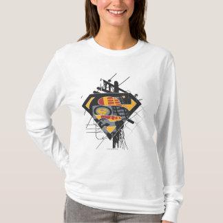 Stålmannen Stylized den | kraftledninglogotypen Tshirts