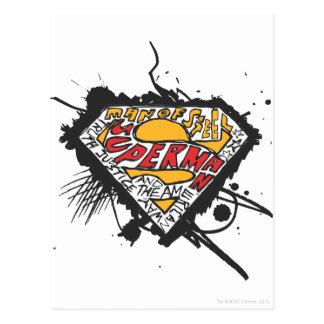 Stålmannen Stylized den   logotypen med Vykort