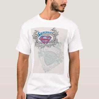 Stålmannen Stylized | designlogotypen för två Tshirts