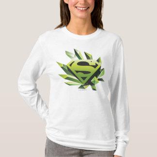Stålmannen Stylized | grönt skyddar logotypen Tee Shirt