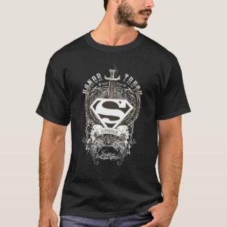 Stålmannen Stylized | heder, sanning på vitlogotyp T Shirt