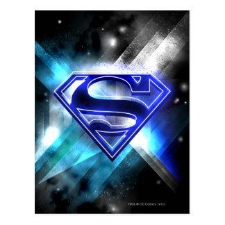 Stålmannen Stylized logotypen för kristallen för   Vykort