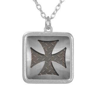 Stålsätta maltesiska 416 silverpläterat halsband