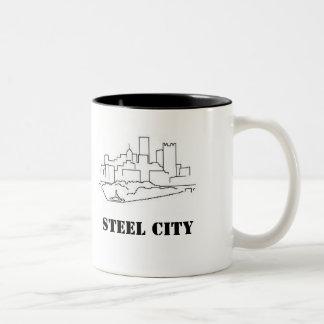 Stålsätta staden Två-Tonad mugg