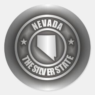 """""""Stålsätter Nevada"""" klistermärkear Runt Klistermärke"""