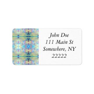 Stam- abstrakt i blått adressetikett