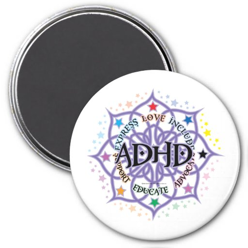 Stam- ADHD-lotusblomma Kylskåpsnagnet