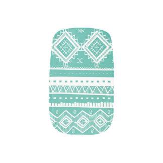 Stam- Aztec aqua för snöremönsterslyna) Konst För Naglar
