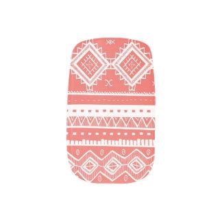 Stam- Aztec korall för snöremönsterslyna) Nail Stickers