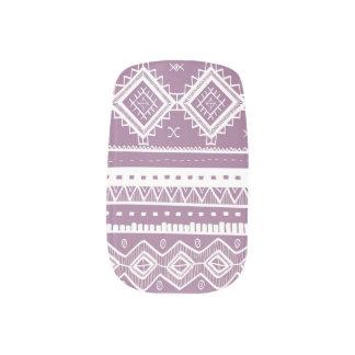 Stam- Aztec lilor för snöremönsterslyna) Klistermärken För Naglar