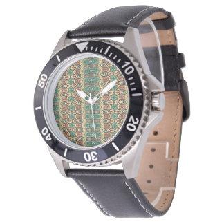 Stam- aztec mönster för vintage armbandsur