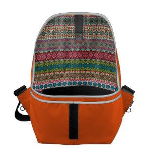 Stam- aztec mönster för vintage kurir väskor