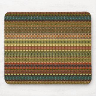 Stam- aztec mönster för vintage musmattor