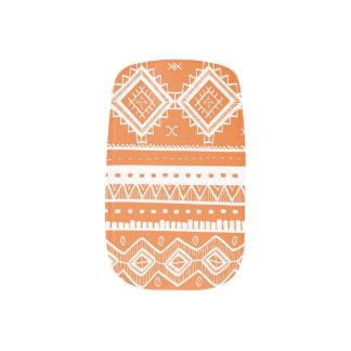 Stam- Aztec orange för snöremönsterslyna) Nail Art
