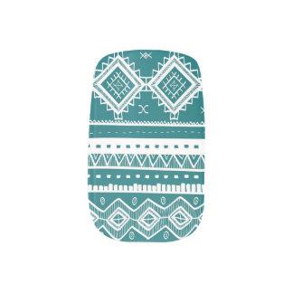 Stam- Aztec påfågel för snöremönsterslyna) Klistermärken För Naglar