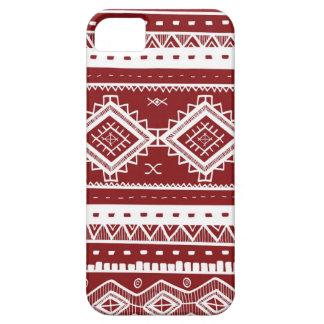 Stam- Aztec (rött) snöremönster, iPhone 5 Case-Mate Fodral