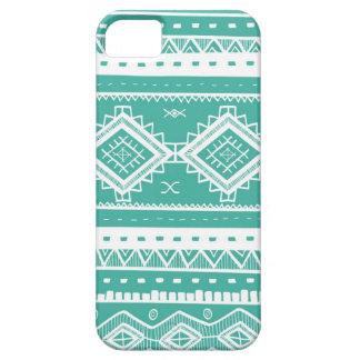Stam- Aztec snöremönster (aquamarine) iPhone 5 Case-Mate Fodral