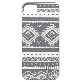 Stam- Aztec snöremönster (grå färg) iPhone 5 Hud