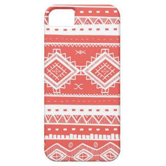 Stam- Aztec snöremönster (korall) iPhone 5 Case-Mate Skal