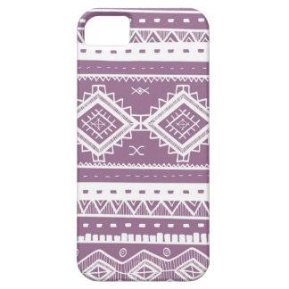 Stam- Aztec snöremönster (lilor) iPhone 5 Case-Mate Cases