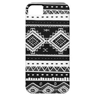 Stam- Aztec snöremönster (svarten) iPhone 5 Case-Mate Fodraler