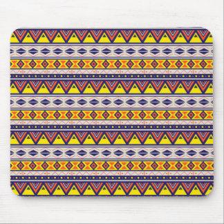 Stam- Aztec vit för godisgultblått Mus Mattor