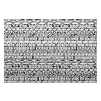 Stam- Batik - skuggar av grå färg/grått Bordstablett