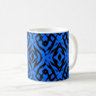 Stam- blått formar mönster kaffemugg