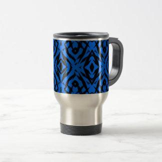 Stam- blått formar mönster resemugg