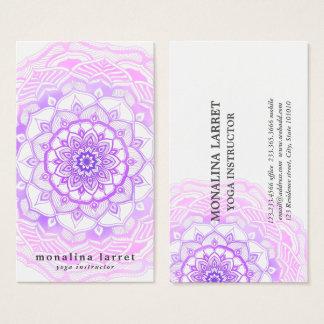 Stam- bohemisk purpurfärgad visitkort