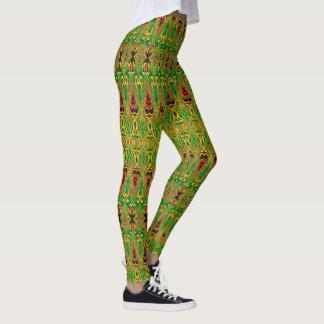 Stam- Design-Damasker för öbo Leggings
