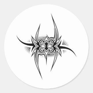 Stam- design för tatuering runt klistermärke