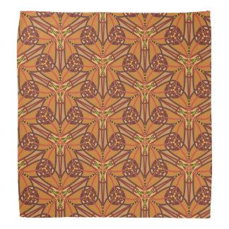 Stam- design i jordnäraa färger scarf