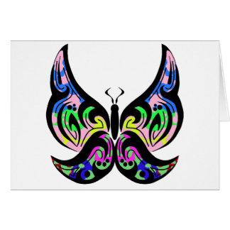 Stam- fjärilshälsningkort hälsningskort