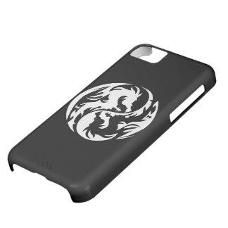 Stam- fodral för iPhone 5C för drakar (svart) iPhone 5C Fodral