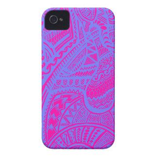 Stam- galet klotter för rosa-/blåtthand Case-Mate iPhone 4 skal