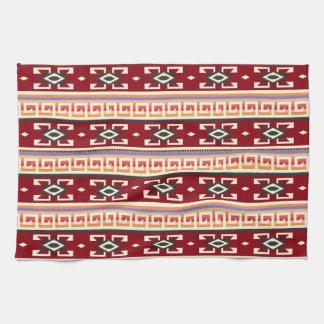 Stam- geometriskt mönster för indian kökshandduk