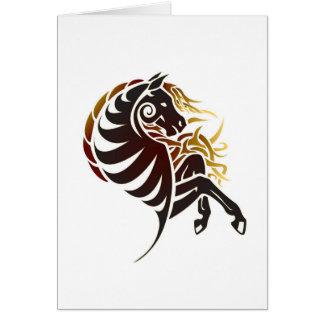 Stam- häst hälsningskort