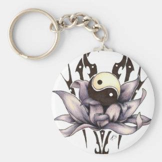 stam- lotusblomma rund nyckelring