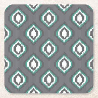 Stam- mönster för geometrisk retro ikat underlägg papper kvadrat