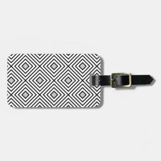 Stam- mönster för moderna svartvita randar bagagebricka