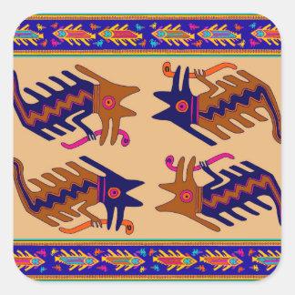 Stam- orm för Inca Fyrkantigt Klistermärke