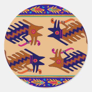 Stam- orm för Inca Runt Klistermärke