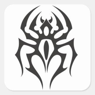Stam- tatuering för spindel fyrkantigt klistermärke