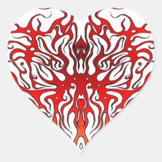 Stam- tatueringvalentinhjärta hjärtformat klistermärke