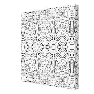 Stam- Zendoodle design 6 Canvastryck