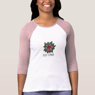 Stämm blomman t-shirts