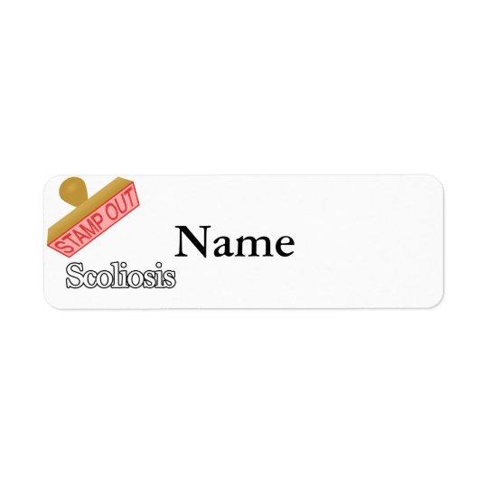 Stämpla ut Scoliosis Returadress Etikett