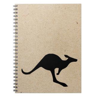 stämplad journal för känguru bläck anteckningsbok